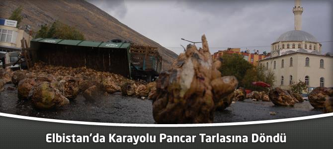 Elbistan'da Karayolu Pancar Tarlasına Döndü