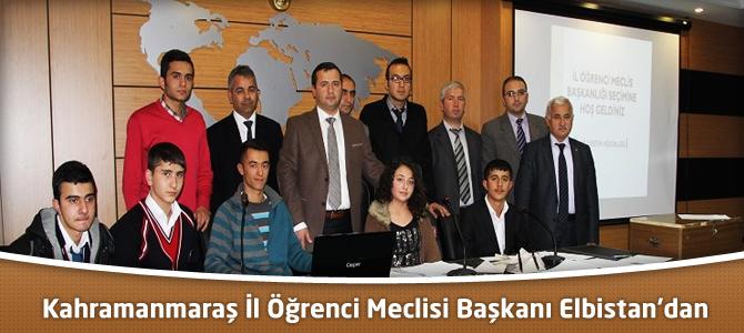 Kahramanmaraş İl Öğrenci Meclisi Başkanı Elbistan'dan