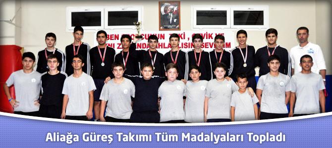Aliağaspor Güreş Takımı Madalyaları Topladı
