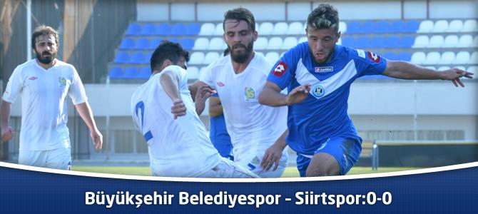 Büyükşehir Belediyespor – Siirtspor : 0-0