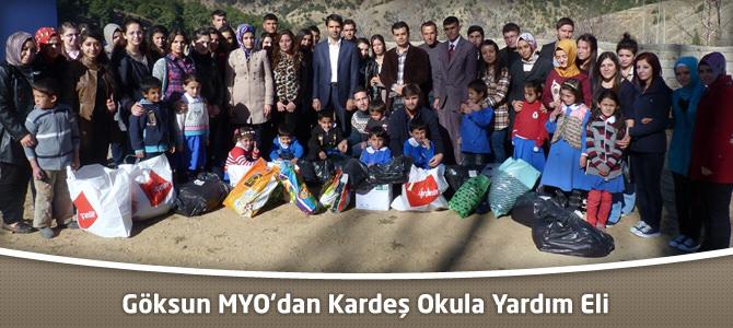 KSÜ Göksun MYO'dan Kardeş Okula Yardım Eli