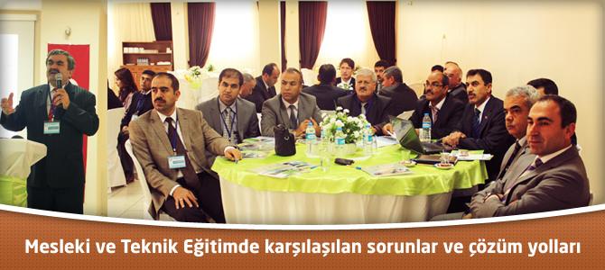 Kahramanmaraş'ta Mesleki ve Teknik Eğitim Çalıştayı Yapıldı