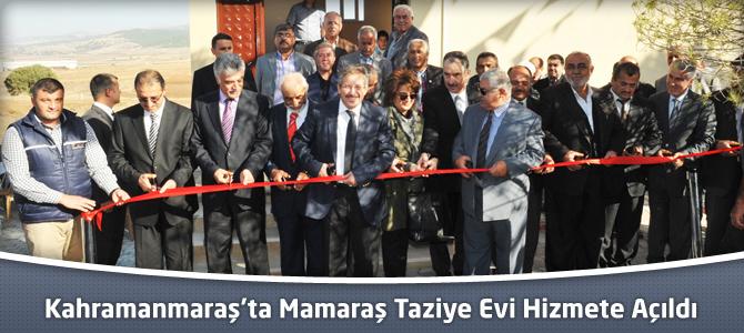 Kahramanmaraş'ta Mamaraş Taziye Evi Hizmete Açıldı