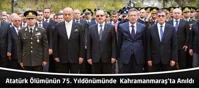 Atatürk, Ölümünün 75. Yıldönümünde Kahramanmaraş'ta Anıldı
