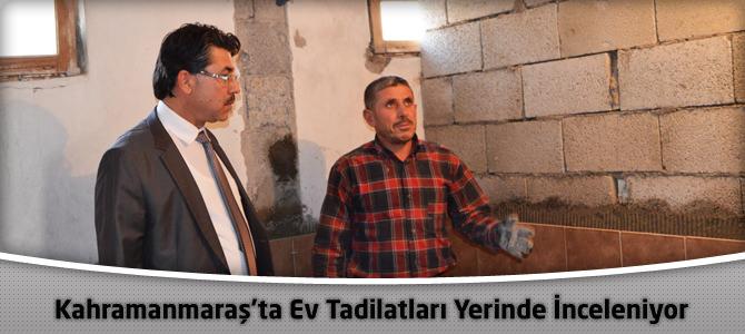 Kahramanmaraş'ta Ev Tadilatları Yerinde İnceleniyor