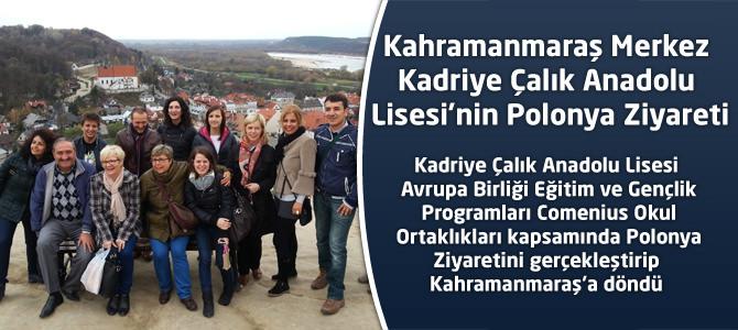 Kadriye Çalık Anadolu Lisesi'nin Polonya Ziyareti