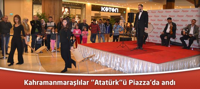 Kahramanmaraşlılar ''Atatürk''ü Piazza'da andı