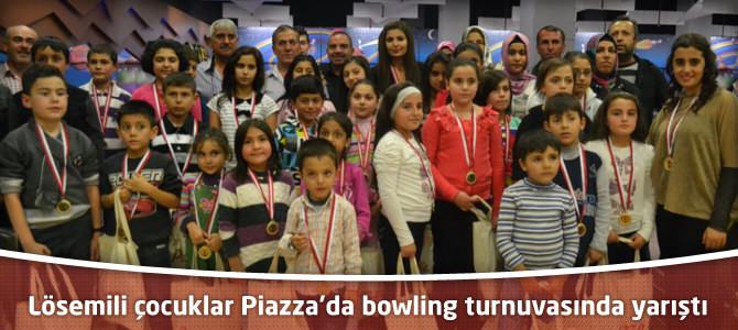 Lösemili çocuklar Kahramanmaraş Piazza'da bowling turnuvasında yarıştı