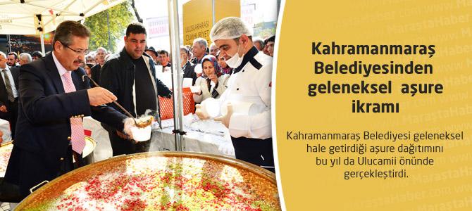 Kahramanmaraş Belediyesinden  geleneksel  aşure ikramı