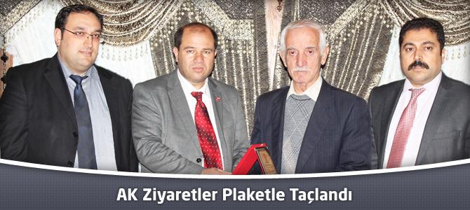 AK Ziyaretler Plaketle Taçlandı