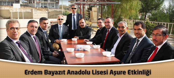 Erdem Bayazıt Anadolu Lisesi Aşure Etkinliği Düzenledi.