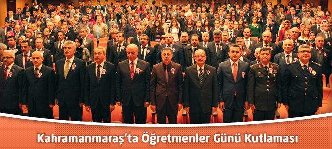 Öğretmenler Günü Kahramanmaraş'ta Çeşitli Etkinliklerle Kutlandı