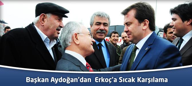Başkan Aydoğan'dan, Erkoç'a Sıcak Karşılama