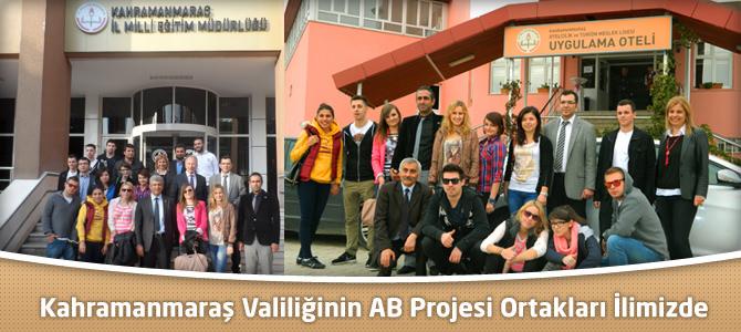 Kahramanmaraş Valiliğinin AB Projesi Ortaklarıyla Çalışmaları Başladı