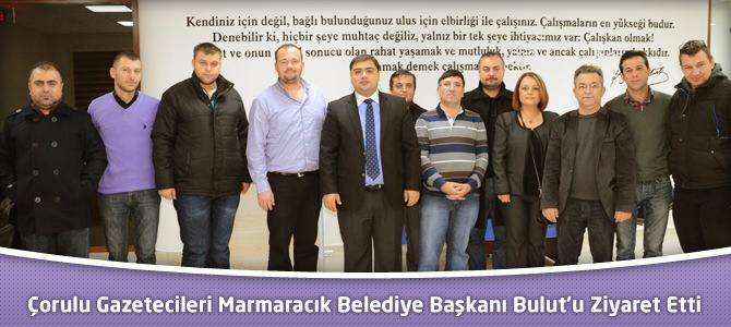 Çorlu Gazeteciler Derneği'nden Marmaracık Belediye Başkanı Bulut'a Ziyaret