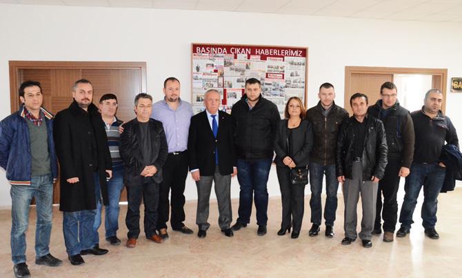 Çorlu Gazeteciler Derne_i'nden Marmarac_k Belediye Ba_kan_ Bulut'a Ziyaret 04