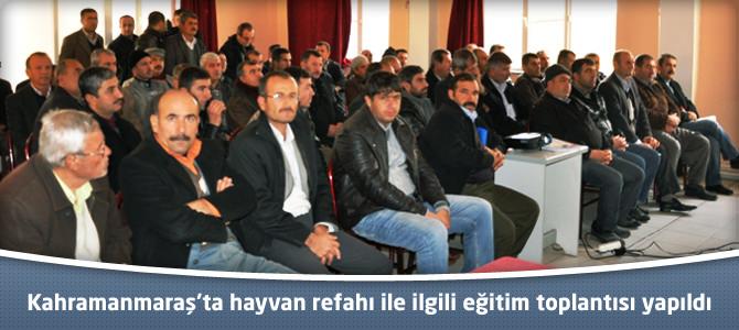Kahramanmaraş'ta hayvan refahı ile ilgili eğitim toplantısı yapıldı