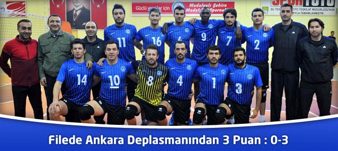 Filede Ankara Deplasmanından 3 Puan : 0-3