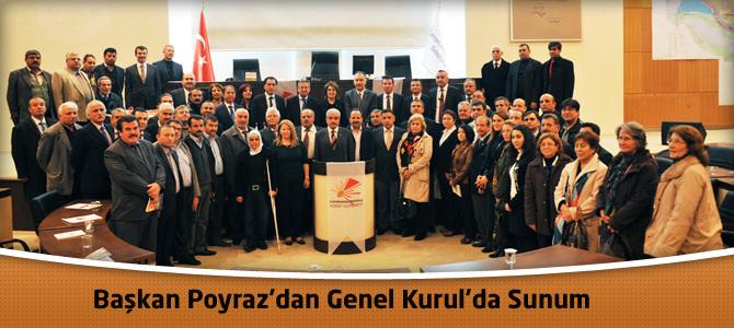 Başkan Poyraz'dan Genel Kurul'da Sunum