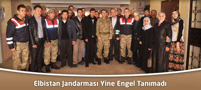 Elbistan'da Jandarma Yine Engel Tanımadı!