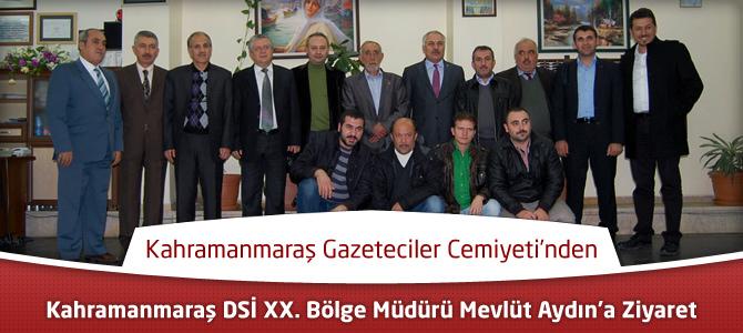 Gazeteciler Cemiyeti'nden DSİ Müdürü Aydın'a Ziyaret
