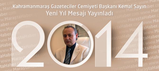 Kahramanmaraş Gazeteciler Cemiyeti'nden Yeni Yıl Mesajı