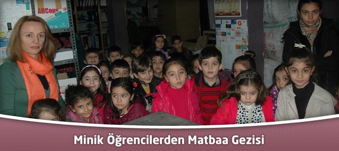 Minik Öğrencilerden Matbaa Gezisi