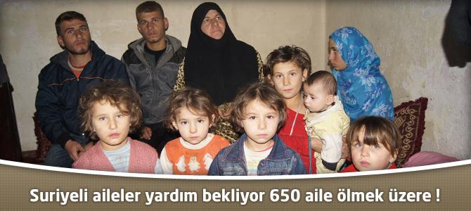 Kahramanmaraş'ta Suriyeli aileler yardım bekliyor 650 aile ölmek üzere !