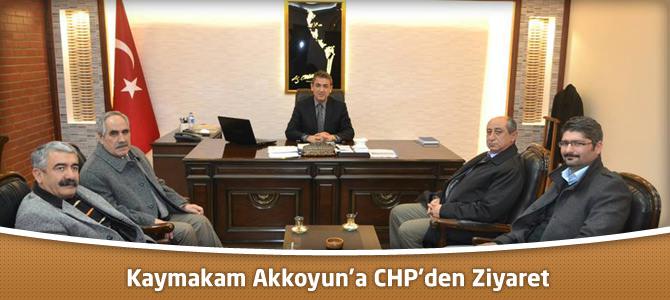 Kaymakam Akkoyun'a CHP'den Ziyaret