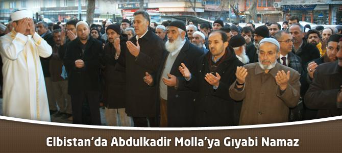 Elbistan'da Abdulkadir Molla'ya Gıyabi Namaz