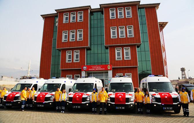 İl Sağlık Müdürlüğüne 5 Ambulans daha kazandırıldı