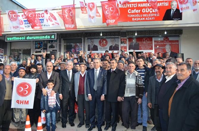 MHP Türkoğlu Adayı Cafer Güçlü'ye 10 Bin Kişilik Destek