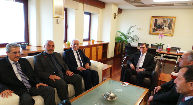 Genel Başkan Kamalak'tan Rektör Karaaslan'a Ziyaret.