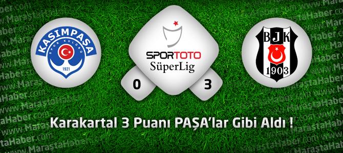 Kasımpaşa 0 – Beşiktaş 3 Geniş maç özeti ve maçın golleri