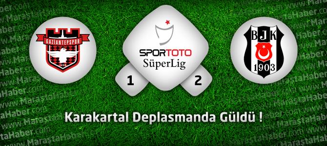 Gaziantepspor 1 – Beşiktaş 2 Geniş maç özeti ve golleri