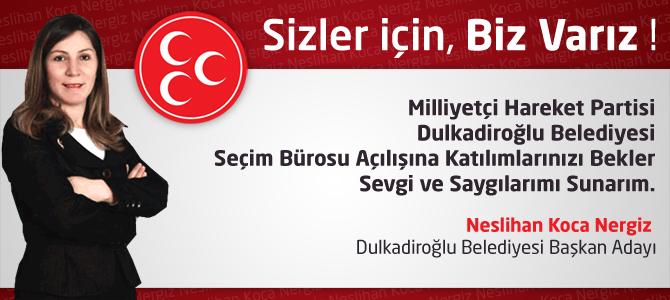 MHP Dulkadiroğlu Belediyesi Seçim Bürosu Açılıyor