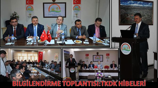 Göksun'da çiftçi ve müteşebbislere yönelik TKDK bilgilendirme toplantısı yapıldı.