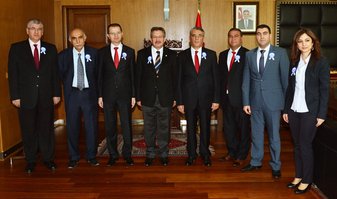 Vergi Heyeti Başkan Poyraz'ı Ziyaret Etti