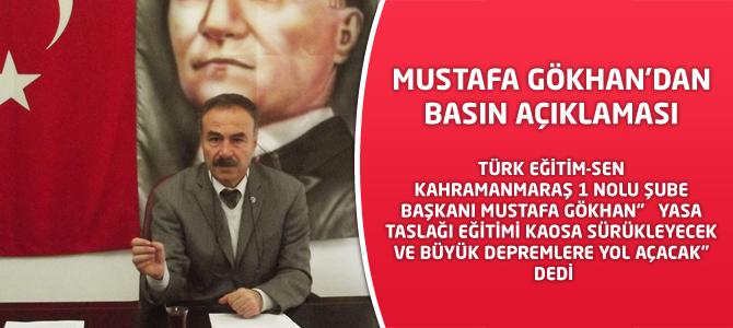 Mustafa Gökhan'dan Basın Açıklaması