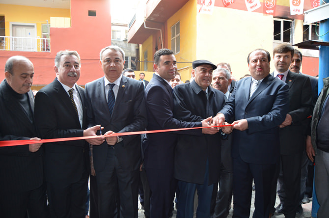 MHP'den Ilıca'da Coşkulu Seçim Bürosu Açılışı