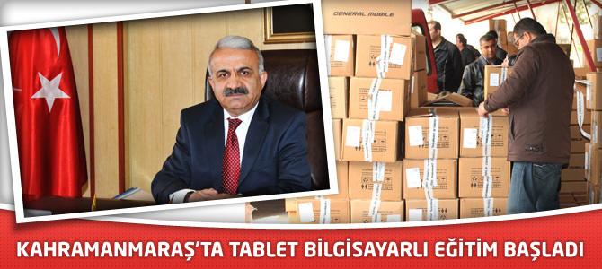 Kahramanmaraş'ta Tablet Bilgisayarlı Eğitim Başladı