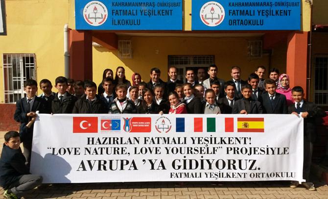 Fatmalı Yeşilkent Ortaokulu Avrupa Yolcusu