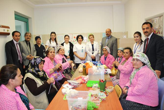 Hastanede Hastalara Verilen Halk Eğitim Kurslarına Yoğun İlgi