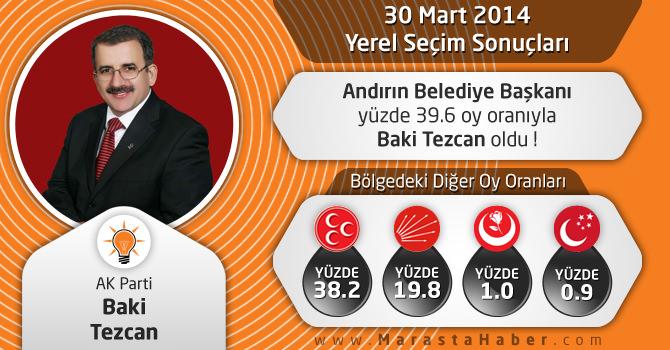Kahramanmaraş Andırın Belediye Başkanı Baki Tezcan Oldu !