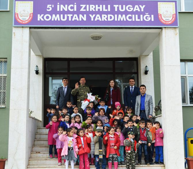 Anakucağı Anaokulu öğrencilerinin Garnizon Komutanlığını Ziyareti