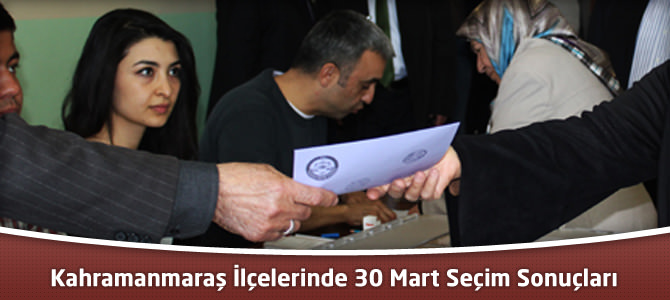 Kahramanmaraş 30 Mart Yerel Seçim Kesin Sonuçları ve Oy Oranları