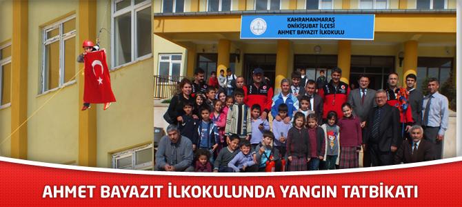 Ahmet Bayazıt İlkokulunda Yangın Tatbikatı Yapıldı