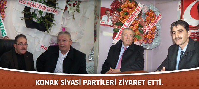 Konak Siyasi Partileri Ziyaret etti.