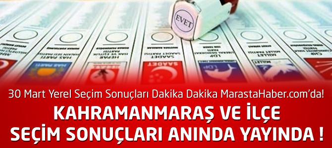 Kahramanmaraş Yerel Seçim Sonuçları – Parti Oy Oranları Canlı ysk.gov.tr