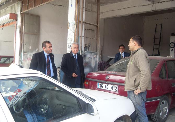 ATEŞ, Küçük Sanayi Sitesi Esnafını Ziyaret Etti